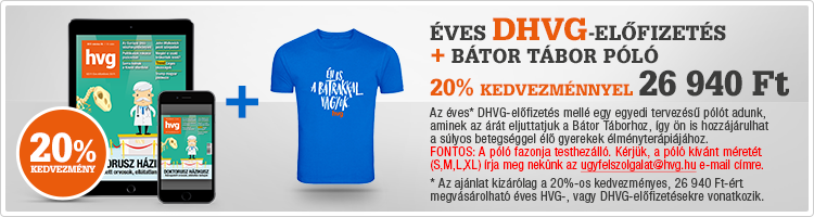 DHVG 12 hónapos előfizetés + Bátor Tábor póló kép