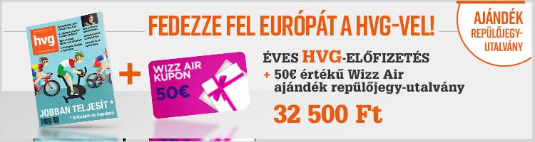 Éves HVG előfizetés + 50€ értékű Wizz Air ajándékutalvány  kép