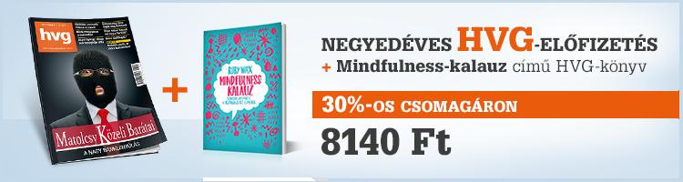 Negyedéves HVG előfizetés + Mindfulness-kalauz HVG-könyv kép