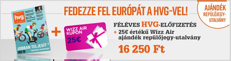 Féléves HVG előfizetés + 25€ értékű Wizz Air ajándékutalvány  kép