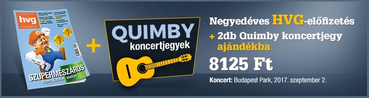 Negyedéves HVG-előfizetés ajándék 2 db Quimby koncertjeggyel  kép