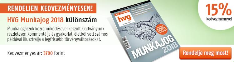 HVG Munkajog-különszám 2018 kép