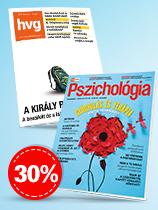 HVG- és Extra Pszichológia-előfizetés