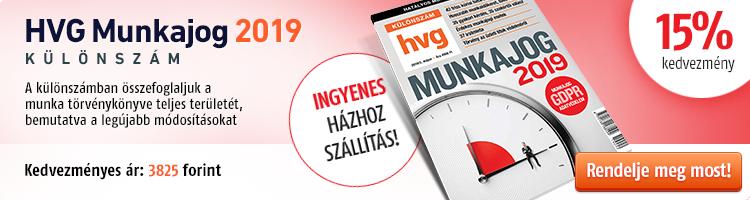 HVG Munkajog-különszám 2019 kép