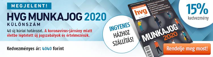 HVG MUNKAJOG 2020 Különszám kép