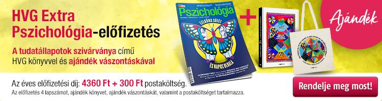 HVG EXTRA Pszichológia éves előfizetés + Feldmár András: A tudatállapotok szivárványa könyv + ajándék vászontáska kép