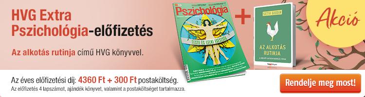 HVG EXTRA Pszichológia éves előfizetés + Az alkotás rutinja című könyv