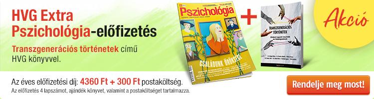 HVG EXTRA Pszichológia éves előfizetés + Transzgenerációs történetek című könyv kép