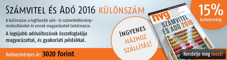 HVG Számvitel és Adó 2016 különszám kép