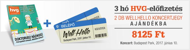 Negyedéves HVG-előfizetés ajándék 2 db Wellhello koncertjeggyel kép